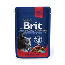 Brit Premium Cat kapsa with Beef Stew & Peas 100g
