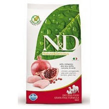 N&D GF DOG Adult Mini Chicken&Pomegranate 7kg