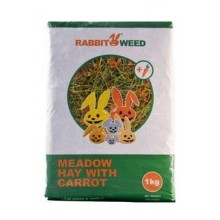 Seno luční s mrkví RabbitWeed 1kg 40 l
