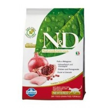 N&D GF CAT Neutered Chicken&Pomegranate 5kg