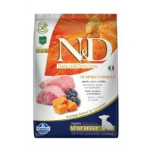 N&D Pumpkin DOG Puppy Mini Lamb & Blueberry 7kg
