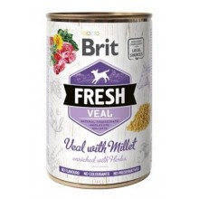 Brit Fresh Dog konz Veal with Millet 400g