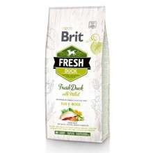 Brit Fresh Dog Duck & Millet Active Run & Work 12kg