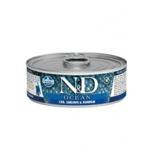 N&D CAT OCEAN Kitten Tuna & Cod & Shrimp & Pumpkin 80g