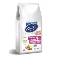 Agil Junior All Breed Low Grain Chicken,Lamb,Tuna 10kg