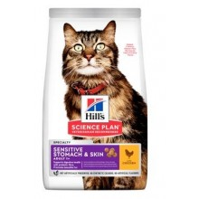 Hill's Fel. Dry SP Adult Sen.Stomach&Skin Chicken1,5kg